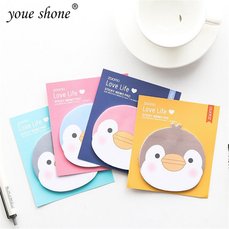 1pc Novelty cartoon notebook penguin style notebook office plan sticker children gift stationery school supplies