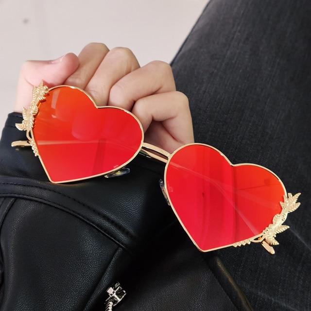 New Fashion Heart Sunglasses