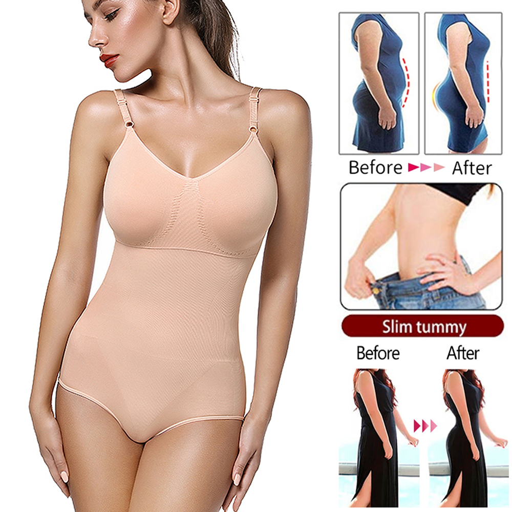 Women Bodysuit Shapewear Full Body Shaper Waist Trainer Abdomen Shapers Tummy Control Slimming Sheath Seamless Briefer Corset