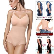 Women Bodysuit Shapewear Full Body Shaper Waist Trainer Abdomen Shapers Tummy Control Slimming Sheath Seamless Briefer Corset