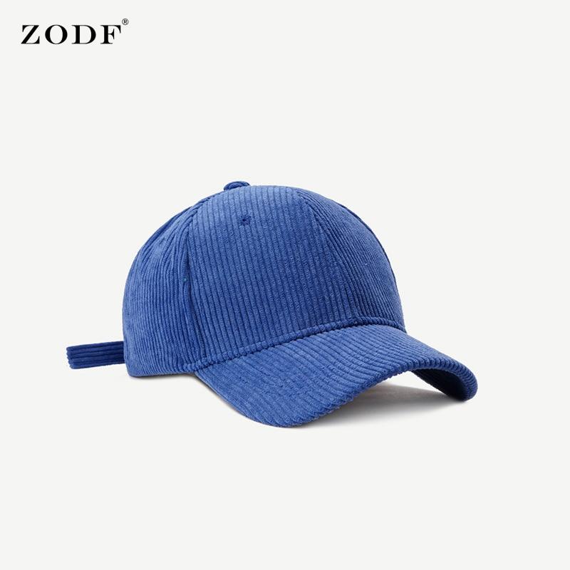 ZODF New 2021 Men Adjustable Corduroy Baseball Caps Solid Color Winter Snapback Unisex Casual Sport Outdoor Hat HY0063