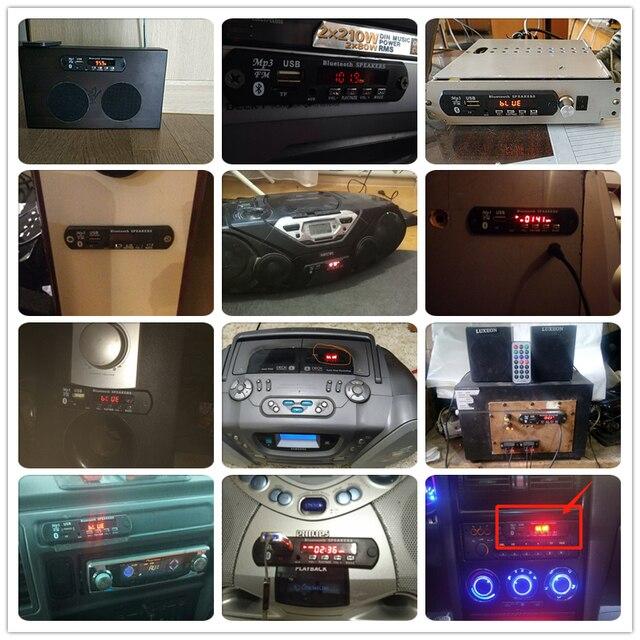 5V-12V color BT TF USB FM Aux Radio MP3 Player Integrated Car USB Bluetooth Hands-free MP3 Decoder Board Module Audio refitting