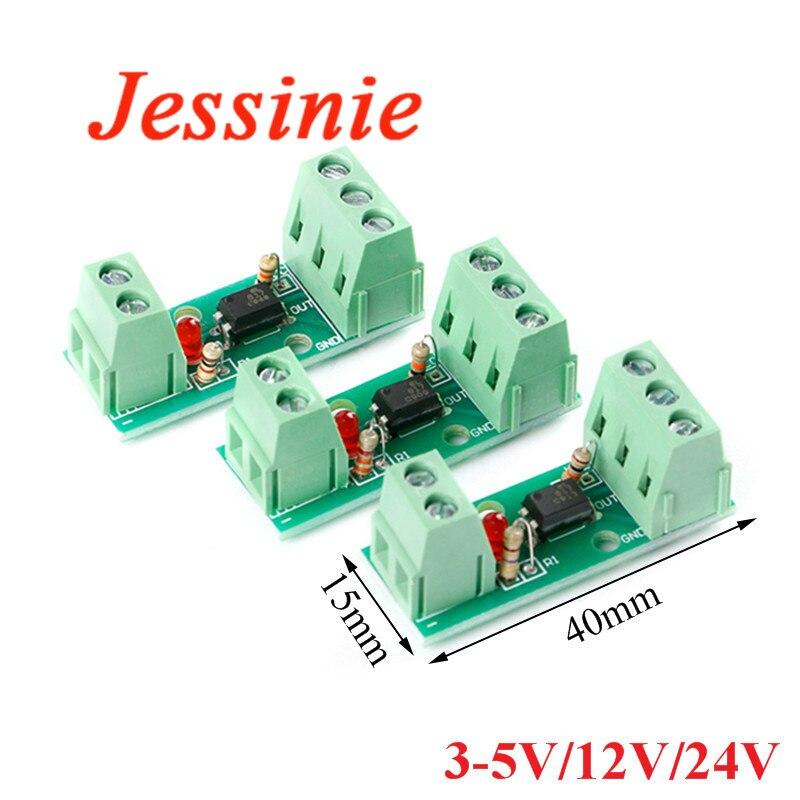 1 Maneira canal Módulo de relé Optoacoplador Isolamento PC817 EL817 3V-5V 12V 24V Isolador Fotoelétrico Titular Ferroviário PLC Placa de Acionamento Do Motor