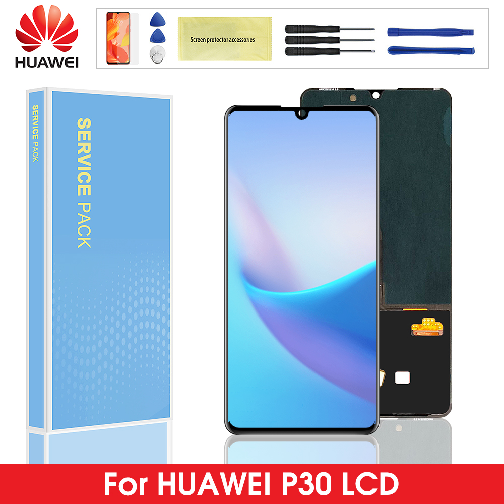 100% Original <font><b>LCD</b></font> For Huawei <font><b>P30</b></font> <font><b>LCD</b></font> Display Touch Screen Digitizer Assembly Frame For Huawei <font><b>P30</b></font> ELE-L29 ELE-L09 display screen image