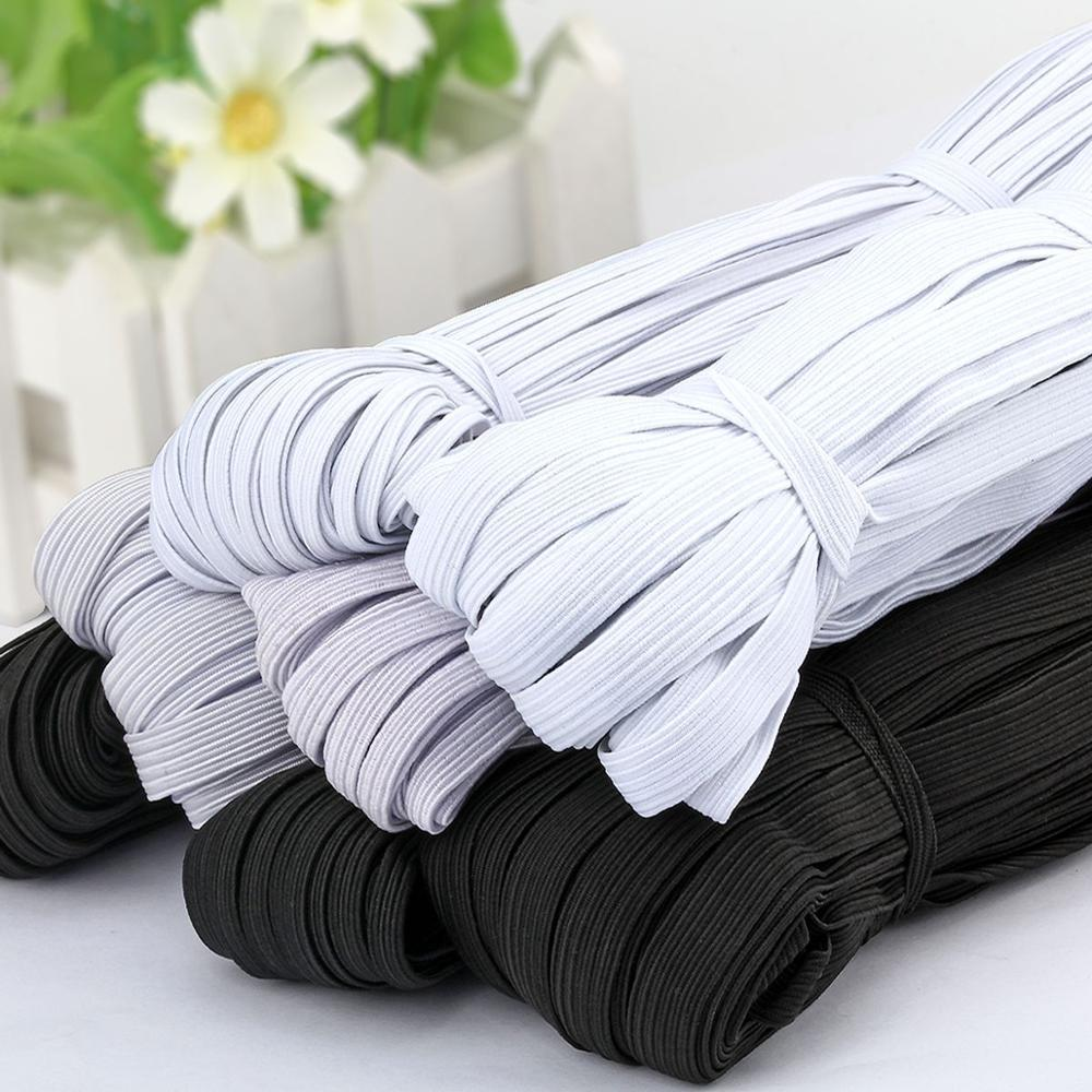 3/4/5/6/8/10MM White/black Flat Elastic Bands Elastic Rubber Band Wedding Garment Elastic Tape For DIY Sewing Stretch Rope Acces