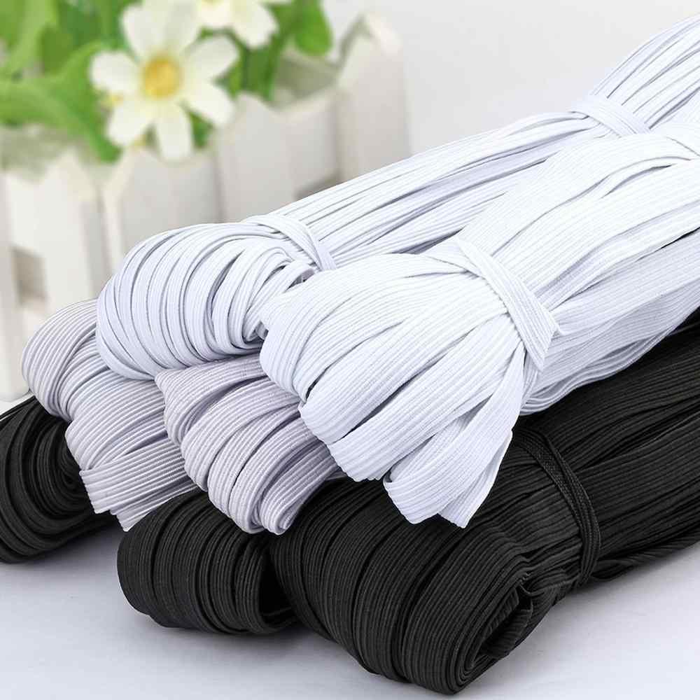 Bandas Elásticas planas blancas/negras de 3/4/5/6/8/10MM, cinta elástica para ropa de boda, cinta elástica para costura DIY, cinta elástica