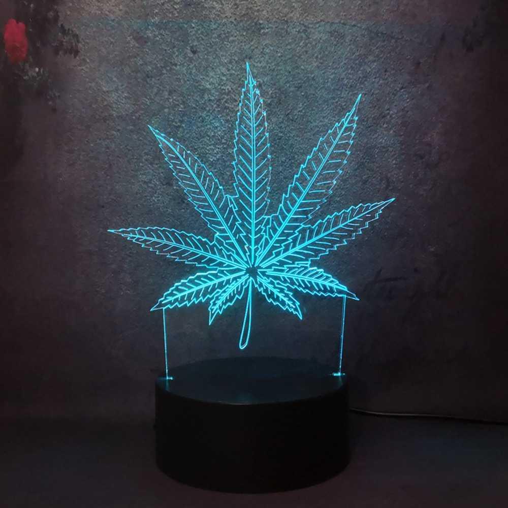 Mới 2019 Cỏ Dại Lá Phong 3D Đèn LED Trang Trí Nhà Ngủ Đêm Đèn Bàn Làm Việc Để Bàn Ngày Lễ Quà Tặng Đồ Chơi Đèn Led đảng Nightlight