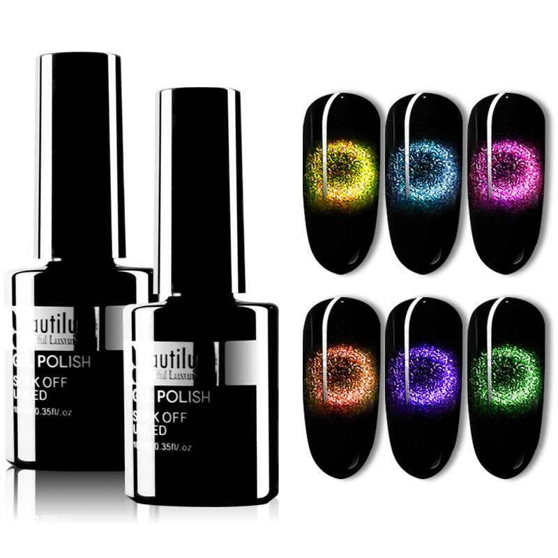 Beautilux 9D Galaxy Cat Eye Gel Nail Polish Kuku Seni Desain Magnetic UV LED Gel Varnish Semi Permanen Nail Lacquer 10Ml