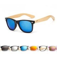 Gafas de sol polarizadas Retro para hombre y mujer, lentes de sol unisex con marco de madera de bambú, diseño de marca deportiva de viaje, 1 Uds.