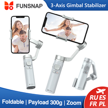 Funsnap Capture 3 Axis Smartphone Gimbal Handheld Stabilizer Foldable Metal Selfie Stick Zoom Focus Control Vlog Live Record