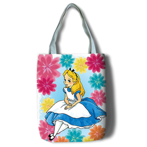 Image 3 - New Alice Girls Women Canvas Shoulder Bags Large Handbag Cute Cartoon School Book Shopping Bag