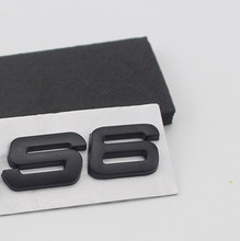 S3 S4 S5 S6 S7 S8 RS3 RS4 RS5 RS6 RS8 Número Letras Emblema do Metal Estilo Do Carro Remontagem Tronco 3D Etiqueta para Audi A4L A6L A5 A7