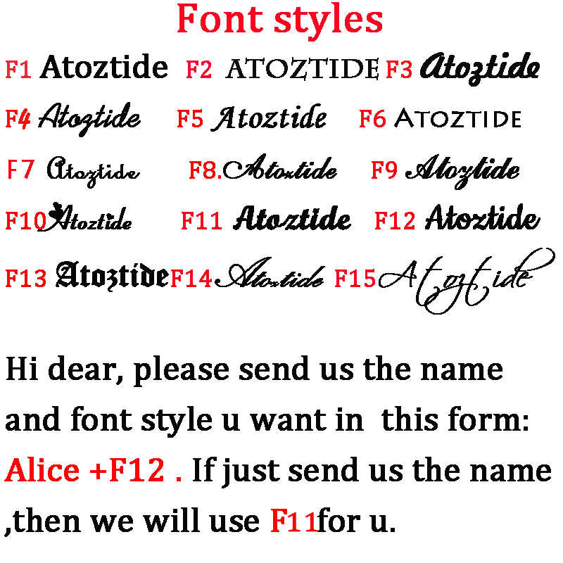 Atoztide カスタマイズされたファッションステンレス鋼ネームネックレスパーソナライズされた手紙ゴールドチョーカーネックレスペンダント銘板ギフト