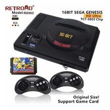 SEGA Genesis RETROAD RD06C HD Ultra MEGADRIVE1 obsługa konsoli rozrywki kartridż z grą bezprzewodowe gamepady 170 gry obejmują