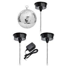 Miroir rotatif en verre de 18 lumières de LED, boule de Disco, contrôle de son de moteur, boule de réflexion de miroir accrochant pour la lumière d'étape de partie de DJ de Disco