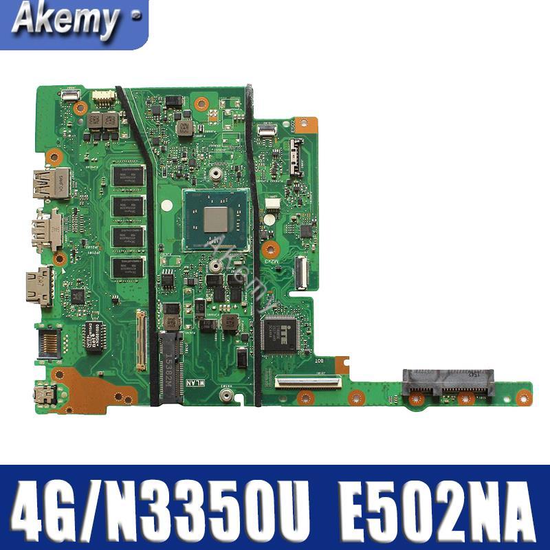 E502NA MAIN_BD.4G/N3350U/AS mainboard For ASUS E502NA Laptop motherboard  E502NA motherboard 100% Tested OK|Motherboards| |  - title=