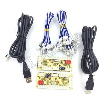 DIY Zero Delay Arcade USB Encoder PC do joysticka gry walki części zamienne enkoder Board + kable wiązkowe tanie i dobre opinie Pchacz 3 lat UE Wtyczka