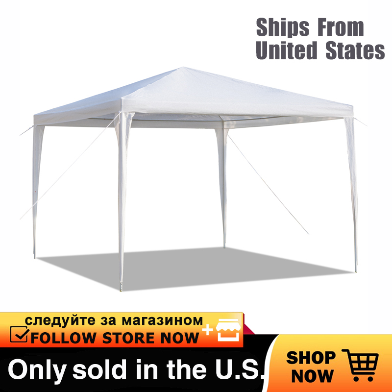 Gazebos Shade 3 X 3m Waterproof Tent With Spiral Tubes White  Garden Accessories Outdoor Tents For Events Awning Dropshipping