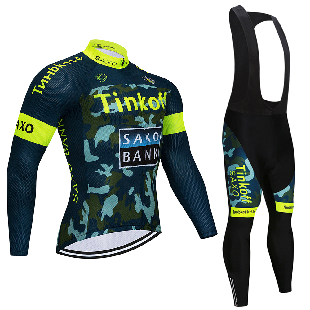 2019 Tinkoff Long Sleeve Cycling Jersey Sets Bicycle Clothing Bike Wear Clothes Roupa Ropa De Ciclismo Bike Clothes Kit|Cycling Sets| |  - title=