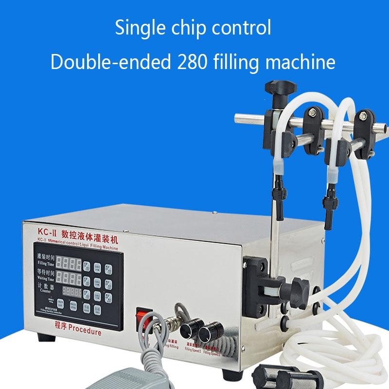 5-3500ml Double-head CNC Automatic Filling Machine Wine Moisture Installation Automatic Small Beverage Filling Machine Precision