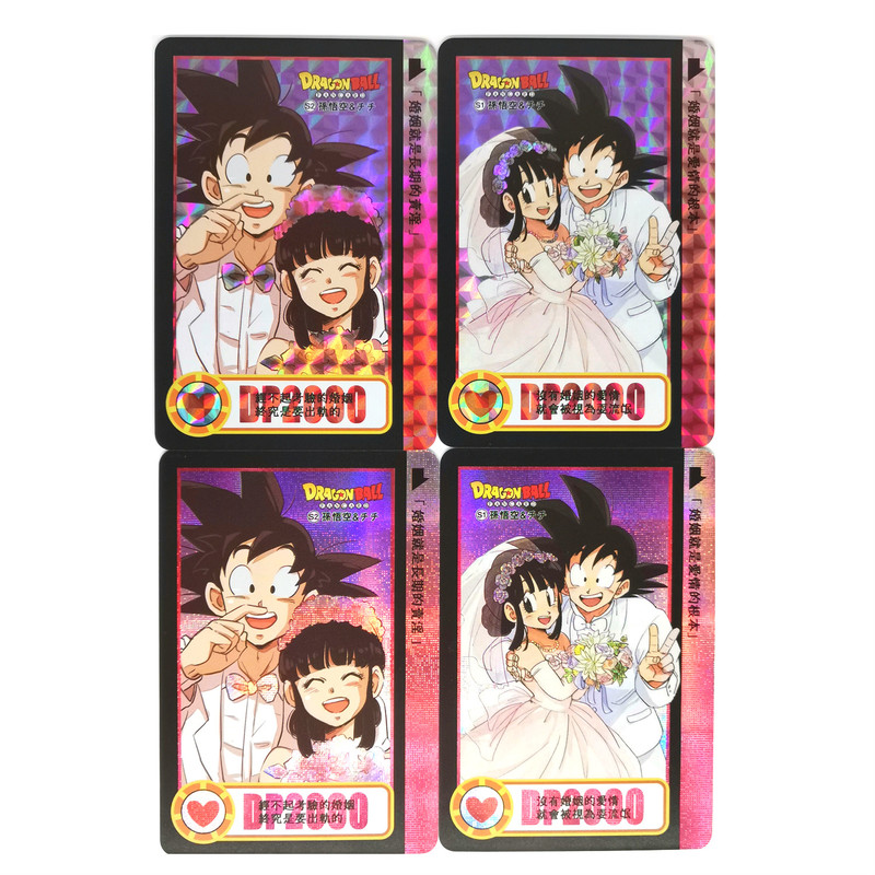 2pcs/set Super Dragon Ball Z Goku Chichi Marry Heroes Battle Card Ultra Instinct Game Collection Cards Marriage Free Shipping
