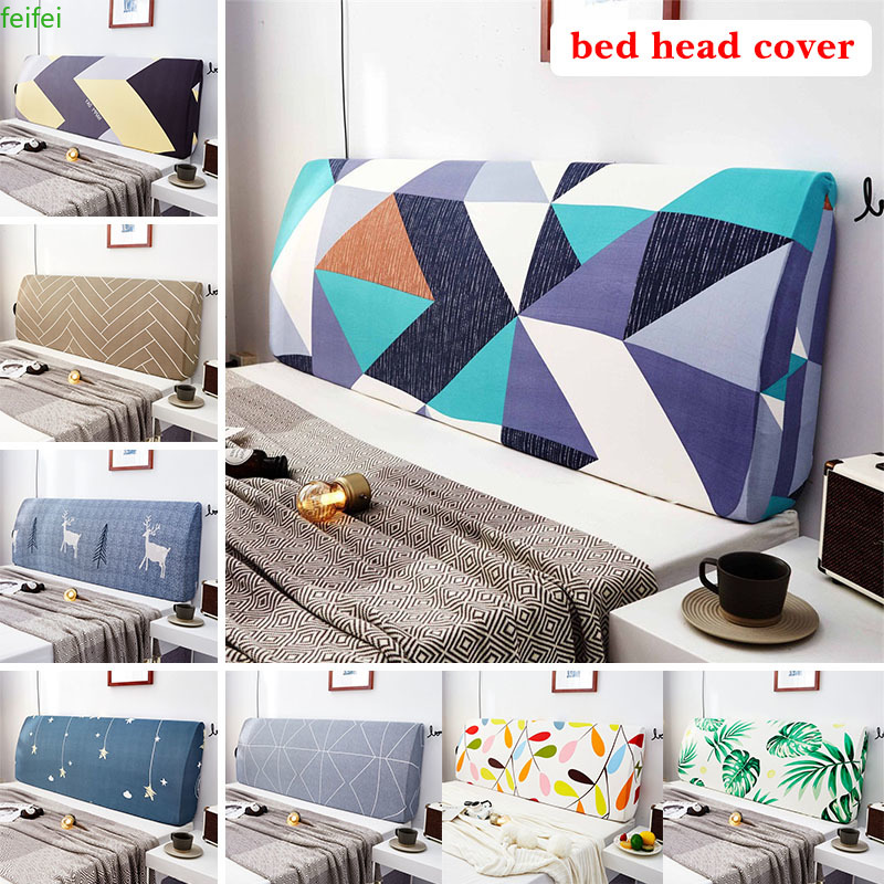 Printed Elastic All-inclusive Bed Head Cover Headboard Cover Universal Size Washable  for Home Hotel Banquet Christmas Leorate