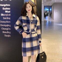 Изящное платье, женское нижнее белье, зима 2019, новый стиль, модный элегантный комплект из двух предметов с короткой шерстяной подкладкой