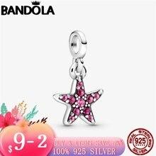 2020 новый 925 пробы серебро моя розовый starfish с позолоченным
