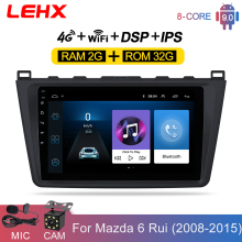 LEHX Auto Android 9,0 2DIN Auto Head Unit Radio Multimedia-Player für Mazda 6 Rui flügel 2008 2009 2010 2011 2012 2013 2014