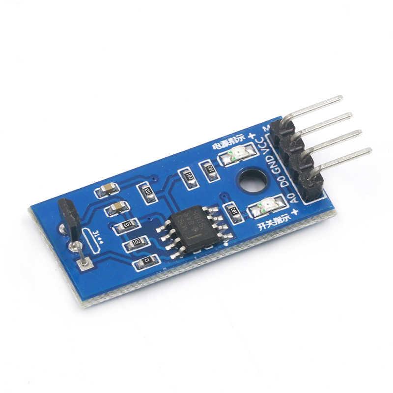 Moduł czujników halla 3144E 4pin przełącznik halla prędkość przełącznik magnetyczny moduł czujnika zliczania prędkości dla Arduino Smart Car