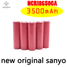 GZSM 18650 battery for Sanyo NCR18650GA 3500mAh 3.6V 10A rechargeable For flashlight