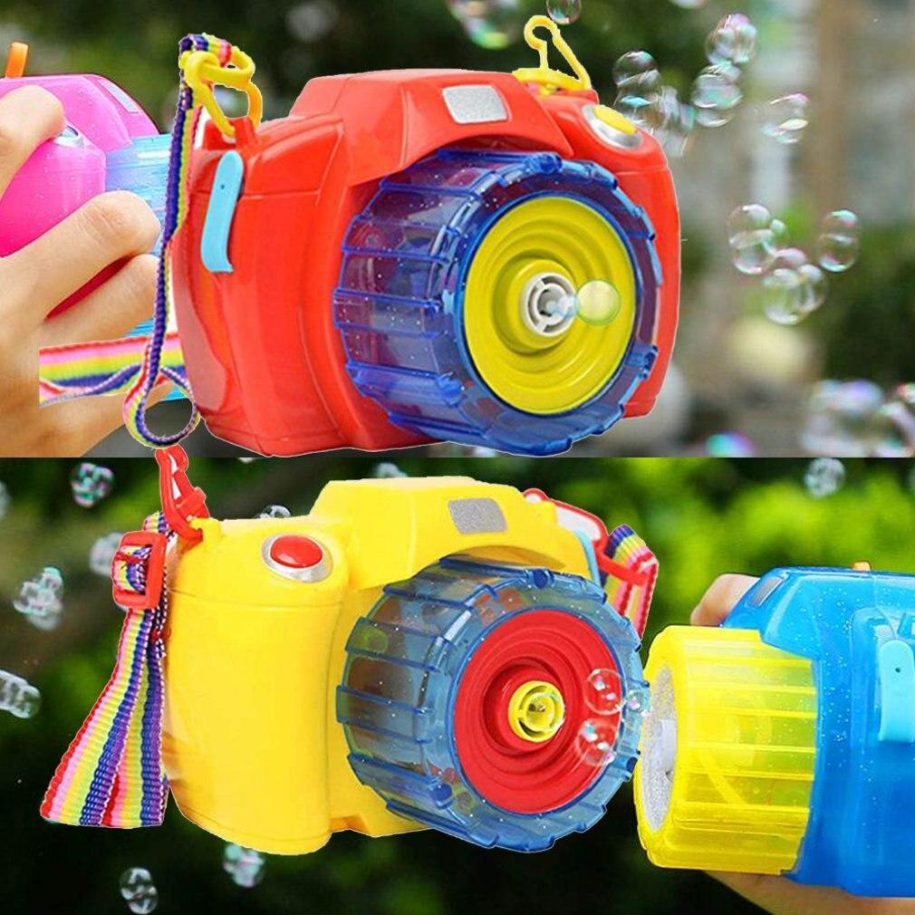 Bubble Camera Camera Bubble Machine Automatic Light Music Electric Children Blowing Bubbles Play