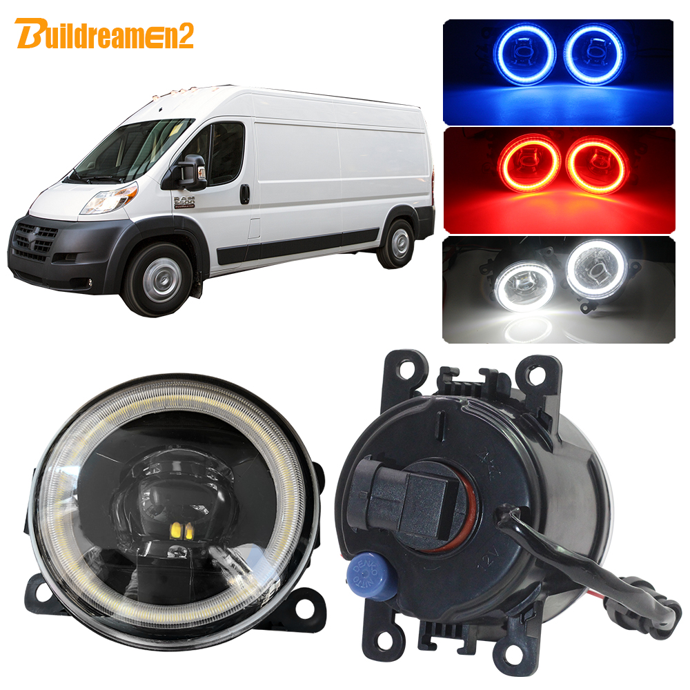 Buildreamen2 Car 4000LM LED Lamp Fog Light Lens Angel Eye DRL Daytime Running Light H11 12V For Dodge Promaster 1500 2500 3500(China)