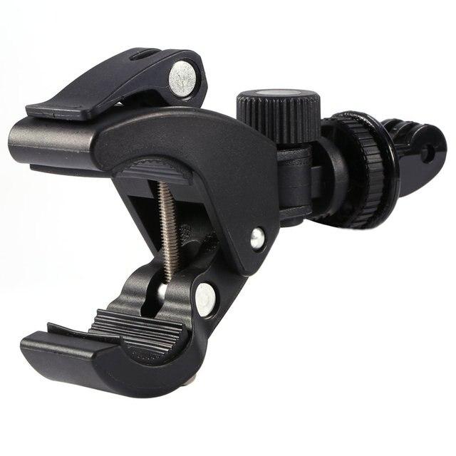 GloryStar Black Bike Bicycle Motorcycle Handlebar Handle Clamp Bar Camera Mount Tripod Adapter For Gopro Hero 1 2 3 3+ 4 5