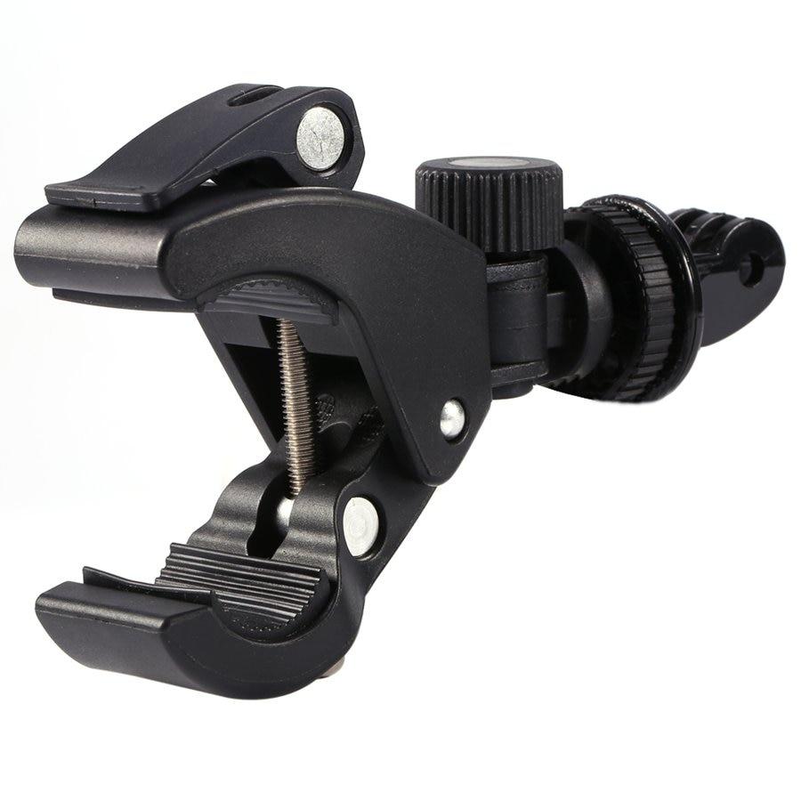 GloryStar Black Bike Bicycle Motorcycle Handlebar Handle Clamp Bar Camera Mount Tripod Adapter For Gopro Hero 1 2 3 3+ 4-4