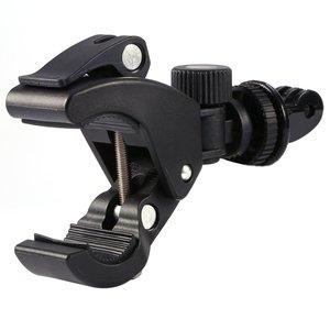 Image 5 - GloryStar Nero Della Bicicletta Della Bici Del Motociclo Manubrio Maniglia Morsetto Bar Camera Tripod Mount Adapter Per Gopro Eroe 1 2 3 3 + 4