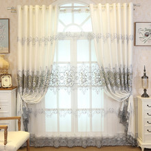 Peony Embroidered Curtains, Window  Curtains  for A Living Room Bedroom Bay Window Balcony Floor European Stylen . european style villa luxury embroidered living room decorated bay window curtains high end bedroom floor curtains luxury drapes