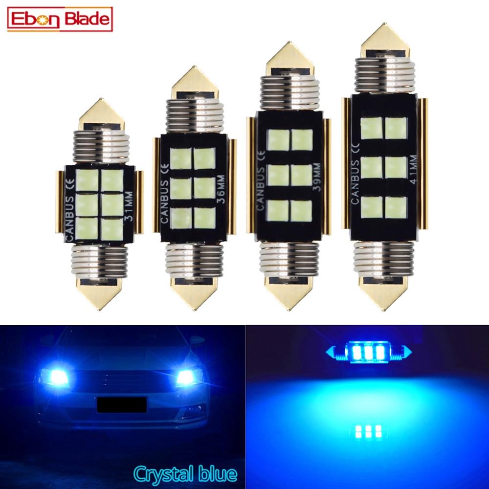 Светодиодная лампочка CANBUS 4 x c5w, 12 В, гирлянда 31 мм, 36 мм, 39 мм, 41 мм, c5w, c10w, лампа для чтения, для салона автомобиля, купольная карта, светильник ...