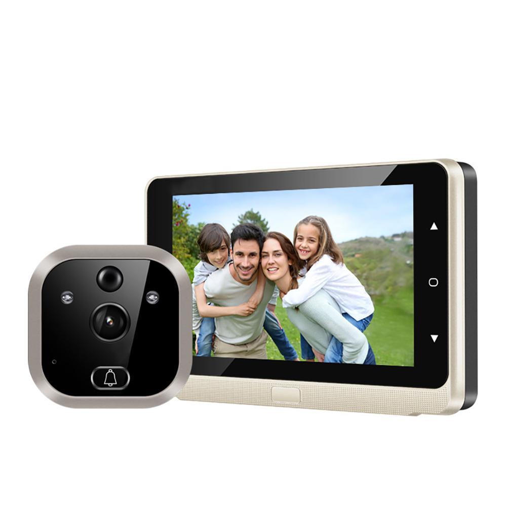 GloryStar Wireless Doorbell Camera Video Door Bell 5-inch Doorbell Camera Video Record Motion Detection