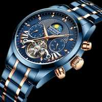 Reloj Hombre HAIQIN Automatische Mechanische Uhr Männer 2020 Luxus Marke Militär Sport Tourbillon Armbanduhr Männer Relogio Masculino