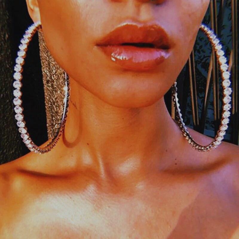 2020 модные новые большие круглые блестящие циркониевые серьги серии, нежные хрустальные серьги, аксессуары для вечеринок для девочек