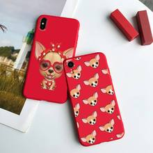Dog-Phone-Case Animal Max-Plus for 6 7 8 11 12-S Mini Pro-X-Xs XR Candy-Color Chihuahua