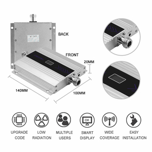Image 3 - Усилитель сотового сигнала, 4G, 1800 МГц, DCS, ЖК дисплей, усилитель сигнала сотового телефона, Yagi + потолочная антенна, 5D коаксиальный кабель