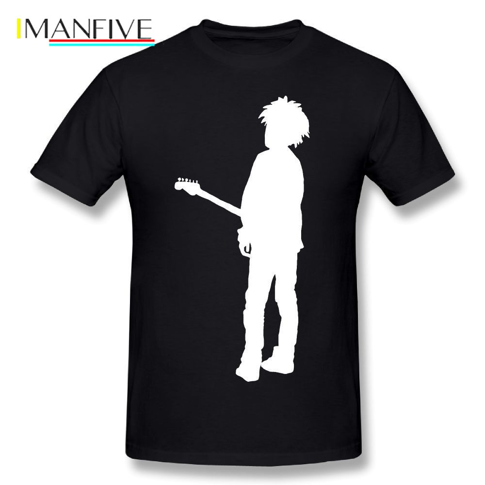 The Cure T Shirt Rob Is The Cure T-Shirt Men Cartoon Print Male T-Shirt Plus Size Cotton T Shirts Oversized Graphic Tee Shirt