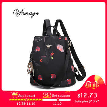 Vfemage Multifunction Backpack Women Oxford Bagpack Female Anti Theft Backpack School Bags for Teenager Girls Sac a Dos Mochila - DISCOUNT ITEM  44 OFF Luggage & Bags