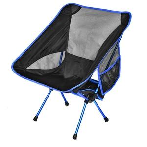 Image 5 - ירח כיסא כיס נייד מתקפל דיג קמפינג מתקפל הליכה ממושכת מושב גן Ultralight משרד בית ריהוט