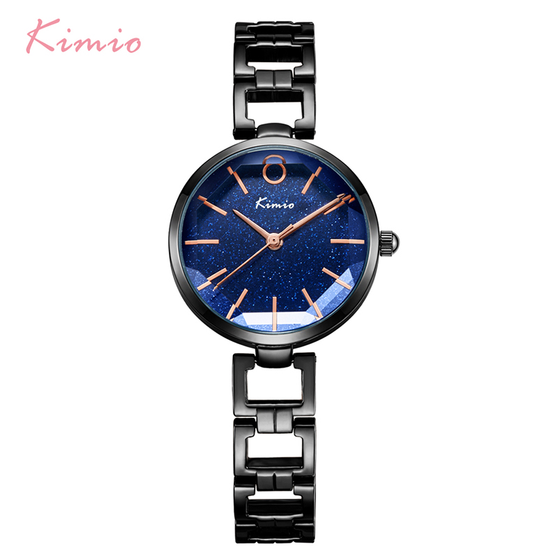 Kimio Women's Hollow Bracelet Watches Luxury Ladies Multi-faceted Dial Babysbreath Dress Watch For Women Female Clock With Box