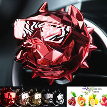 O transporte da gota criativo bulldog ambientador de ar do carro perfume decoração do carro auto geur clipe fragrância perfume voiture difusor do carro