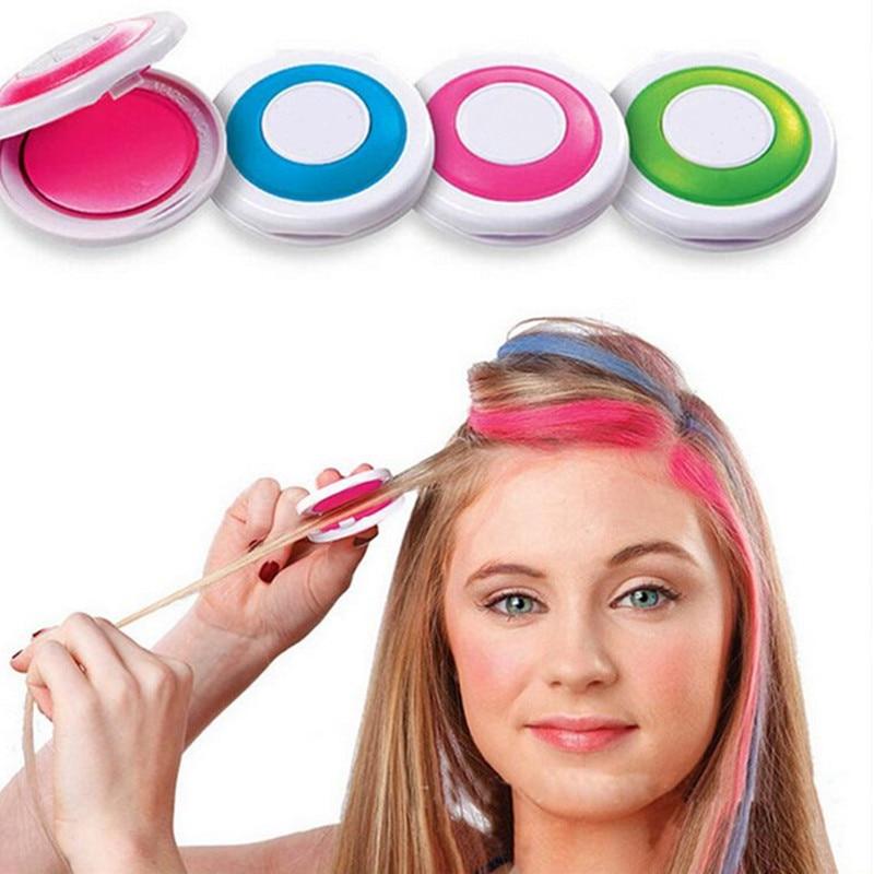 Hot 4 Colors Hair Color Hair Chalk Powder European Temporary Pastel Hair Dye Color Paint Soft Pastels Salon