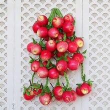Имитация яблочных шампуров для украшения дома, аксессуары, настенная подвесная фигурка, декоративная ресторанная настенная декорация, ремесла